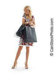 #3, ragazza, shopping