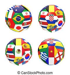3, render, közül, 4, futball foci, előad, verseny, csoport, egy, képben látható, 2014, fifa, világbajnokság, képben látható, white, háttér