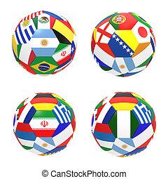 3, render, közül, 4, futball foci, előad, verseny, csoport, f, képben látható, 2014, fifa, világbajnokság, képben látható, white, háttér