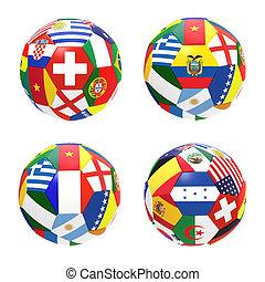 3, render, közül, 4, futball foci, előad, verseny, csoport, kelet, képben látható, 2014, fifa, világbajnokság, képben látható, white, háttér