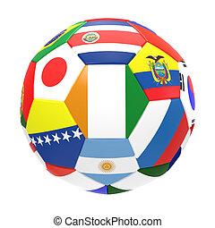 3, render, közül, futball foci, white, háttér