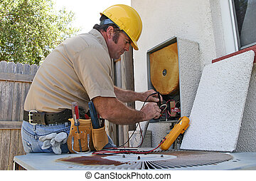 3, repairman, condicionamento, ar