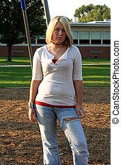3, schoolyard, blond
