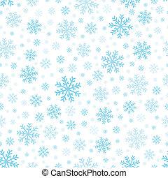 3, seamless, tło, płatki śniegu