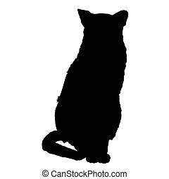 3, silhouette, chat