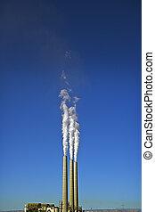 3 Smokes Stacks & Blue Sky