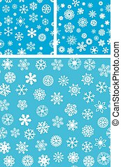3 Snowflakes Seamless Background set