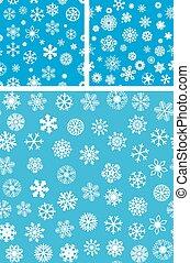 3, snowflakes, seamless, fundo, jogo