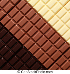 3 sorts of chocolate
