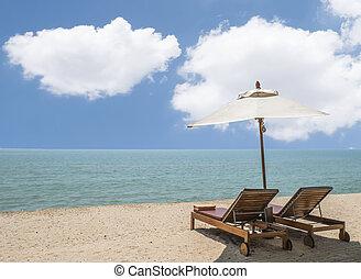 3, spiaggia, letto