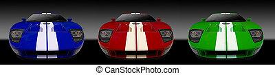 3 sports cars