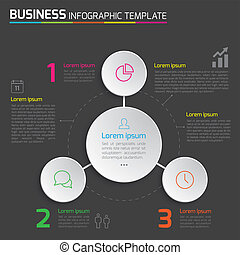 3-Step process infographics