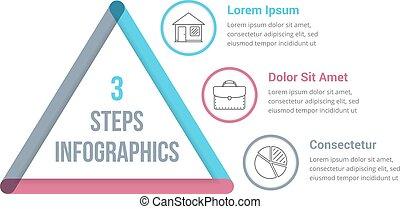 3 Steps Infographics