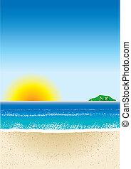3, strand, achtergrond