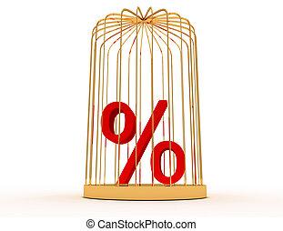 3, százalék, alatt, kalitka