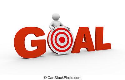 3, személy, noha, gól, céltábla