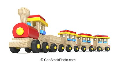 3, tåg, trä