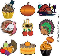 3, thanksgiving, icônes