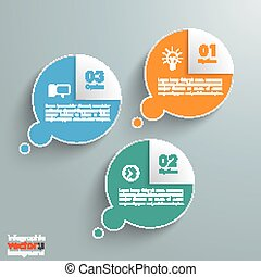 3 Thought Bubbles Corner Infographic