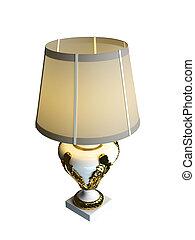 3, vakolás, közül, egy, asztali lámpa