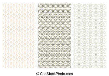 3 various seamless pattern in retro style