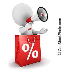 3, vit, folk, försäljning, meddelande