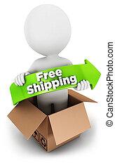 3, vit, folk, gratis, skeppning