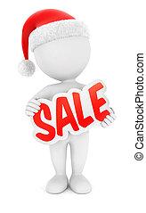 3, vit, folk, jul, försäljning