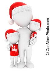 3, vit, folk, släkt jul