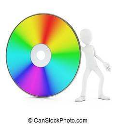 3, voják, s, dvd, disk