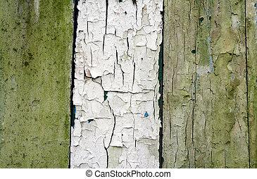 weathered wood - 3 weathered wood panels, artistic paint...