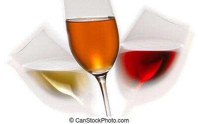 3 wine glasses
