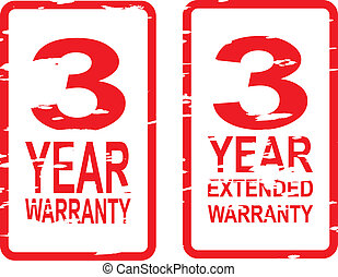 3 Year Warranty Stamps