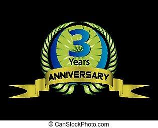 3 years anniversary laurel wreath v