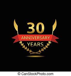 30, 記念日, 年