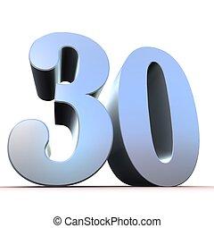 30, -, 銀, 数