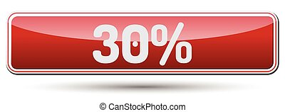 30% - Abstract beautiful button with text.