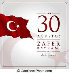 30 agustos zafer bayrami vector illustration. (30 August, ...