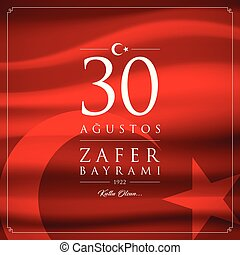 30 agustos zafer bayrami vector illustration. (30 August,...