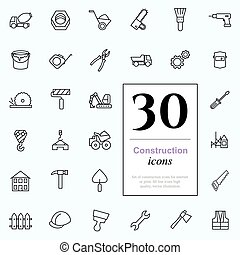 30 construction icons - Set of construction icons for web or...