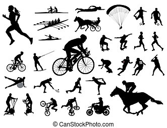 30 high quality sport silhouettes
