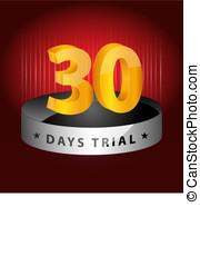 30, jours,  élément, procès, conception