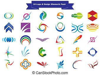 30, logotipo, amostras