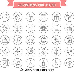30, navidad, iconos