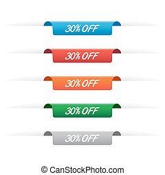 30% off paper tag labels