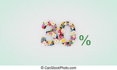 """30, percent."""", цветочный, анимация, """"numerical, разряд"""
