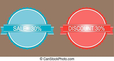 30 percent discount button