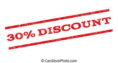 30 Percent Discount Watermark Stamp