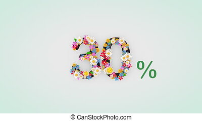 """30, percent."""", floral, animation, """"numerical, chiffre"""