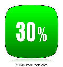 30 percent green icon